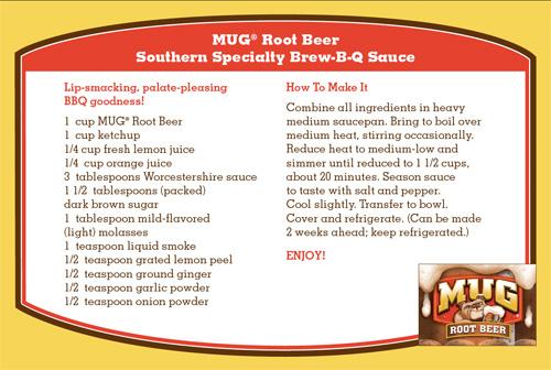 MUG Brew-B-Q  Recipe